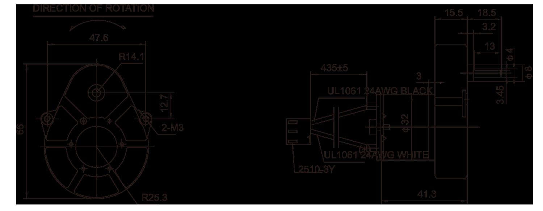 ギアボックスモーター_48JLS3220_Outline-drawing